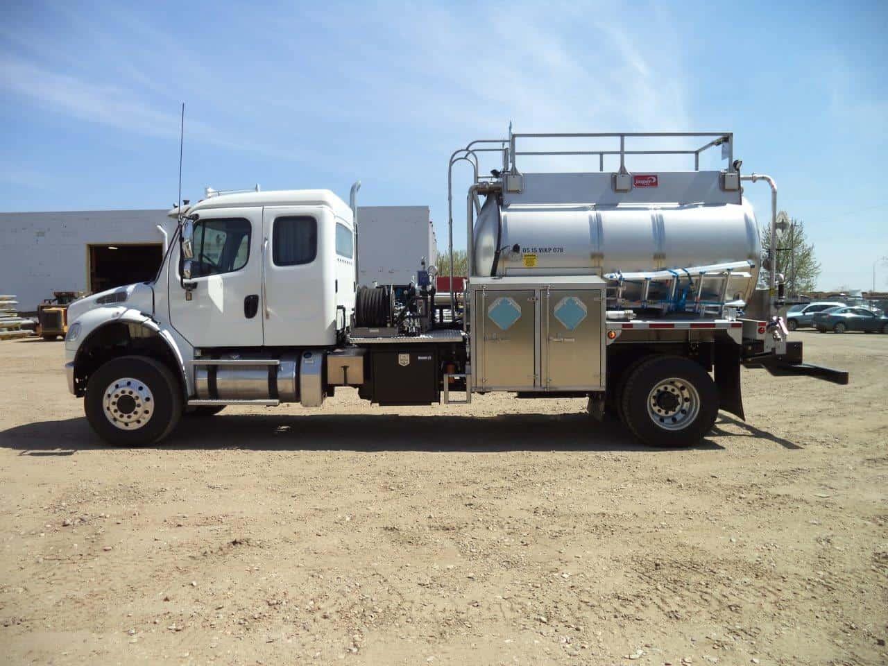SS304 Round TC407 Pressure Truck