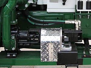 frame mount pump drive system